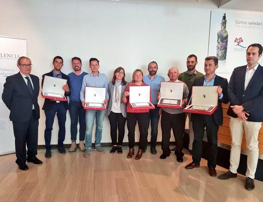 Bodegas Reymos y el viticultor Antonio Belenguer Bañó, de Bodega La Viña, premiados en las Jornadas Técnicas de la DO Valencia