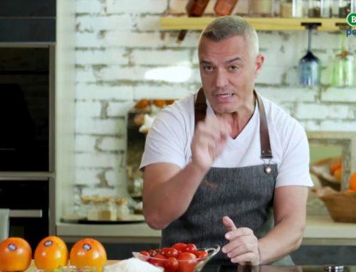 Juan Pozuelo prepara un delicioso salmorejo de kaki Persimon Bouquet