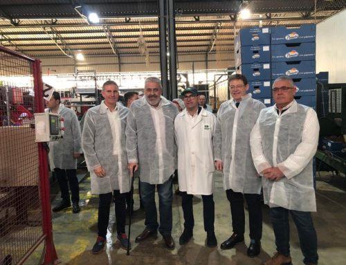 Ximo Puig visita las instalaciones de uno de los socios de Green Fruits