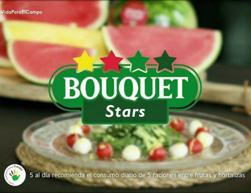 """El Chef de Canal Cocina Juan Pozuelo prepara una ensalada """"Caprese"""" con sandía Bouquet"""