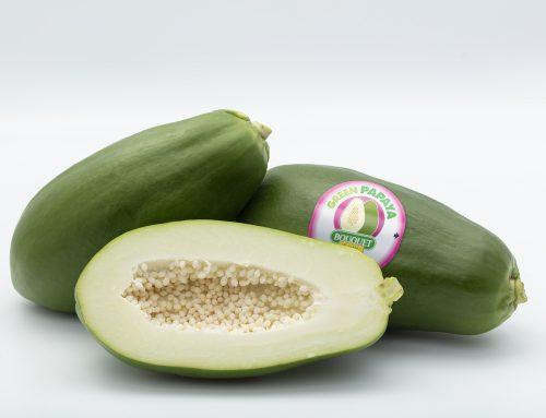 Anecoop impulsa la comercialización de papaya verde, la papaya que se consume como una hortaliza