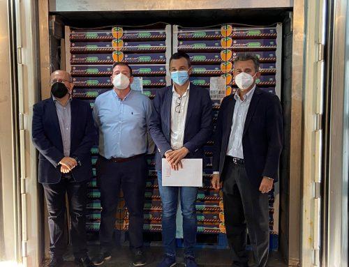 De Carlet a París: los kakis de Anecoop viajan en el contenedor de refrigeración pasiva de Inprous-PRS